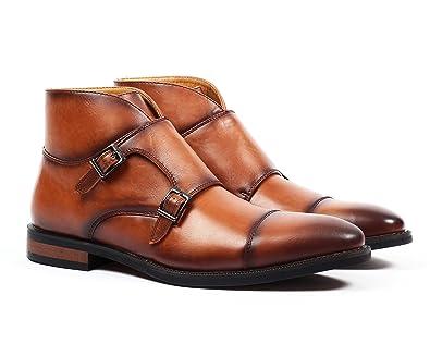 182afd28007 Amazon.com | Santino Luciano Dante Men's Monk Strap Boot | Boots