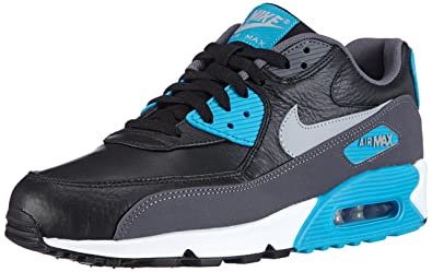 san francisco 60512 282f4 Nike Air Max 90 Leather, Baskets Basses Homme, Noir (Black Wolf Dark