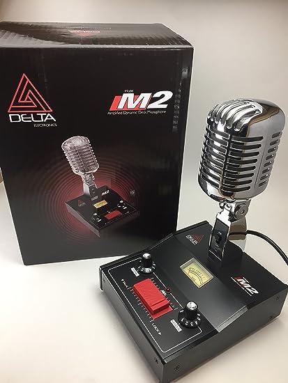 DELTA CHROME M2 AMPLIFIED POWER BASE MICROPHONE 4 pin Cobra CB HAM LOUD MIC