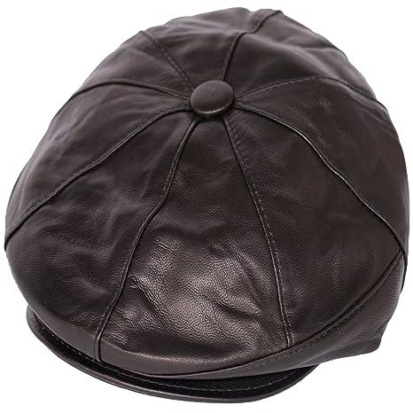 Dazoriginal Basco Scozzese Uomo Cappello da Uomo Berretto Piatto Coppola  Pelle 0faae0c463af