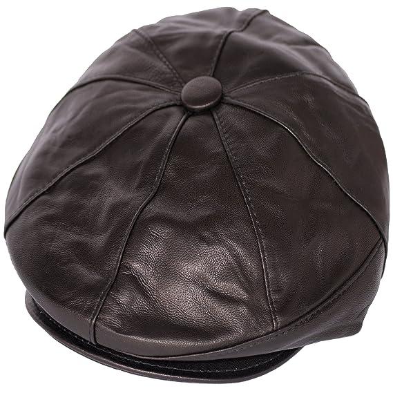 a430671b31643 Dazoriginal Newsboy Hats for Men Baker boy Leather Hat Panel Cap Irish Flat  Cap