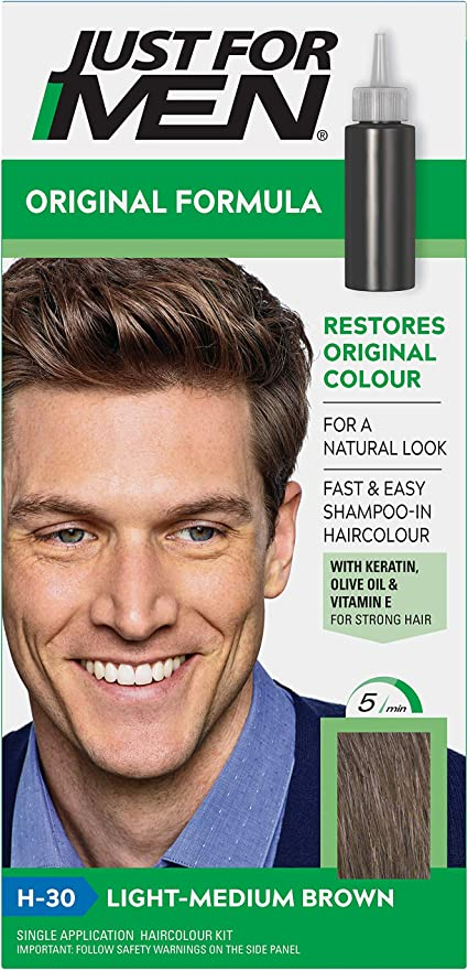 Tinte de pelo para hombre, de la marca Just For Men, fórmula original