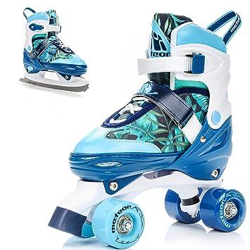 separation shoes 5ed4f 83c10 Meteor Pattini retrò Disco Roller Skate 2 in 1 Pattini a rotelle 4 Ruote  Quad Skate Pattini da Ghiaccio per Bambini e Adulti Taglia Scarpe  Regolabile ...