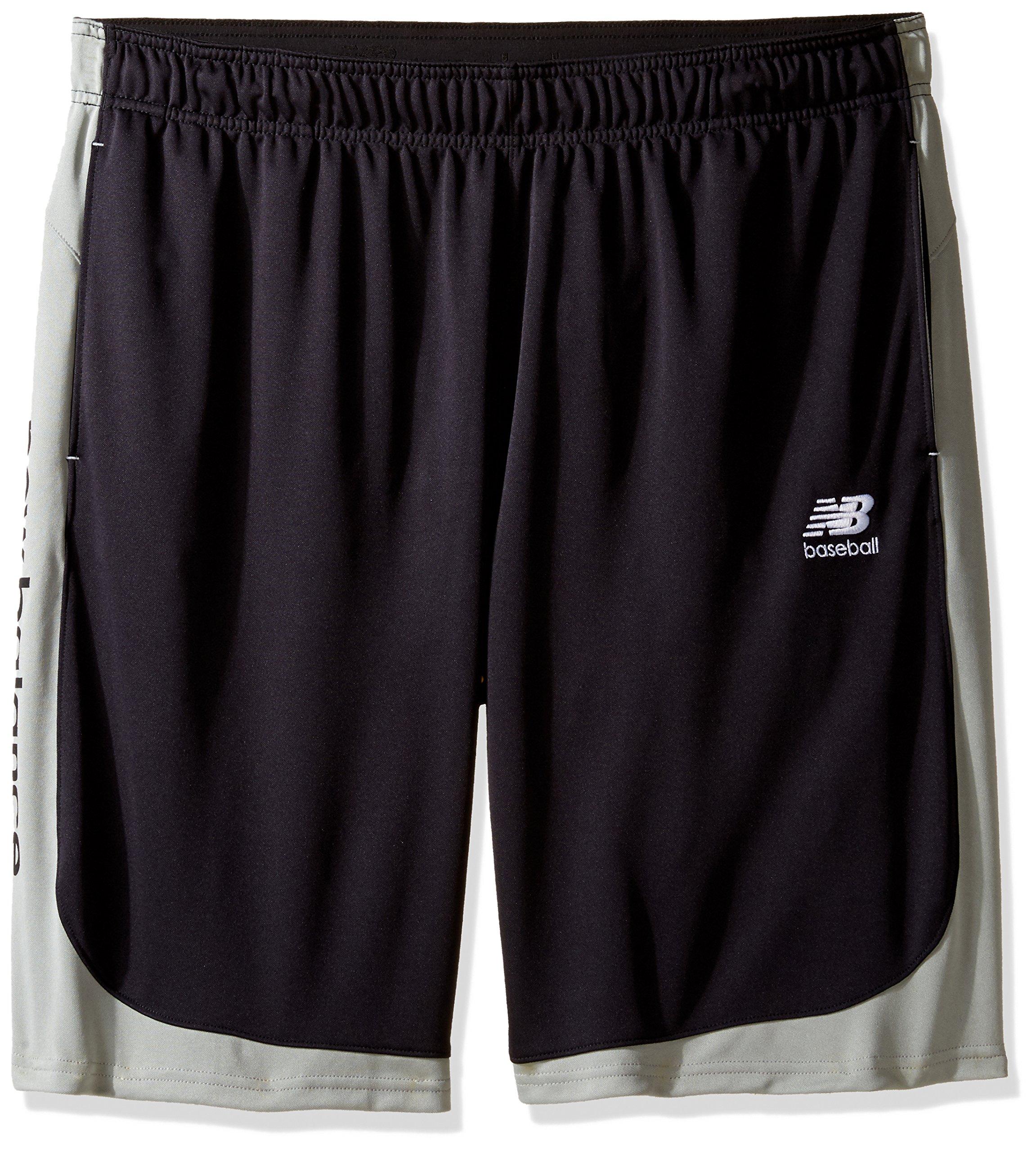 New Balance Men's Baseball Training Shorts, Black, Small by New Balance