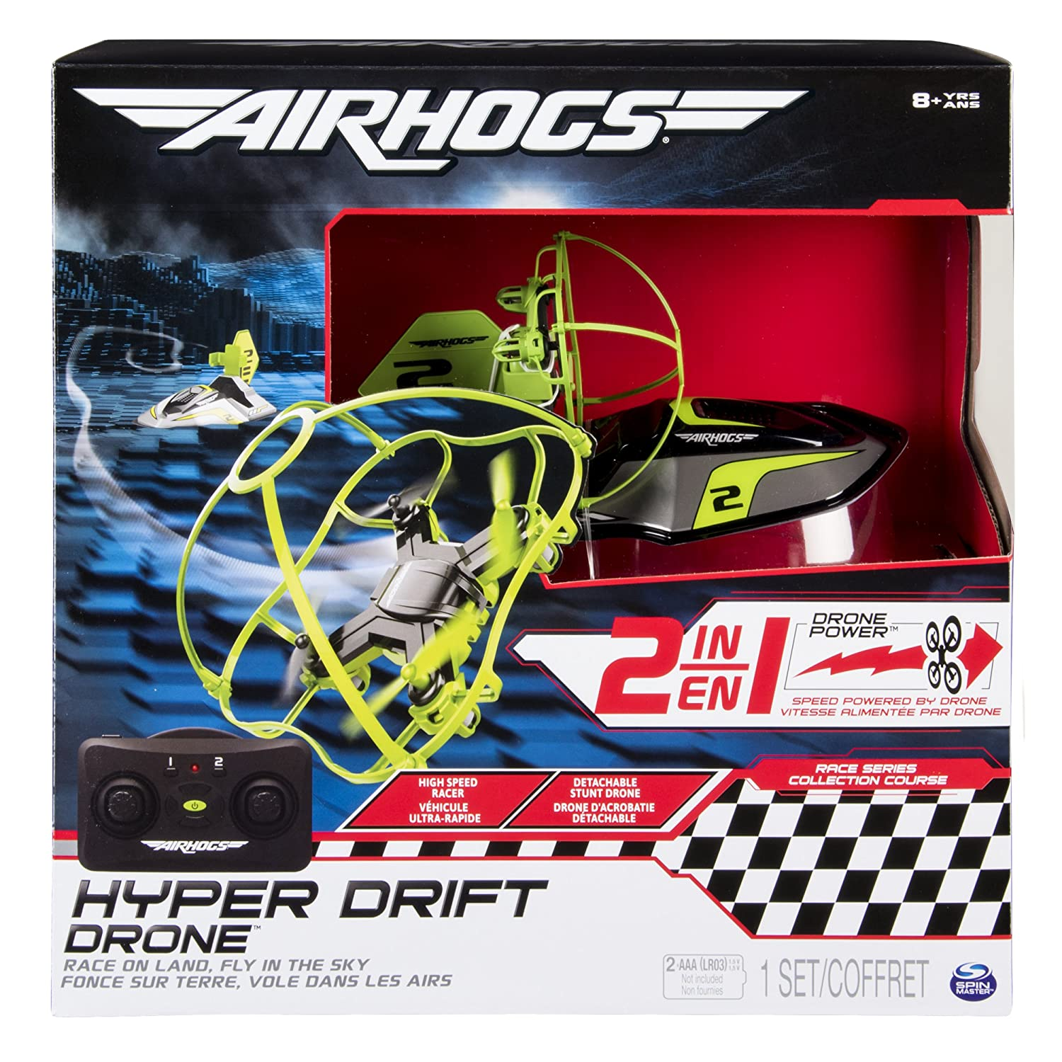 Amazon.com: Air Hogs 2-in-1 Hyper Drift Drone for High Speed Racing and  Flying - Green: Toys & Games
