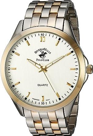 Amazon Com Us Beverly Hills Polo Club Aleación De Metal Y De Cuarzo Reloj Casual De Los Hombres Color Gris Modelo 53496 Watches
