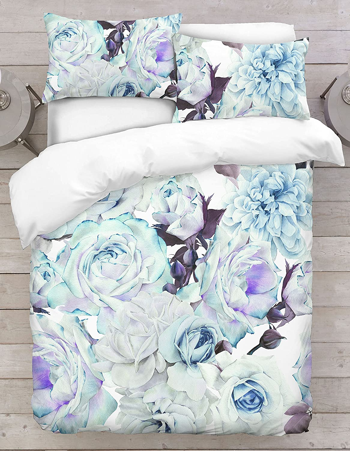 Jennifer Davidson New Flower Orchid 3D Colorfull Powder Bed Duvet Cover UK Made By Double