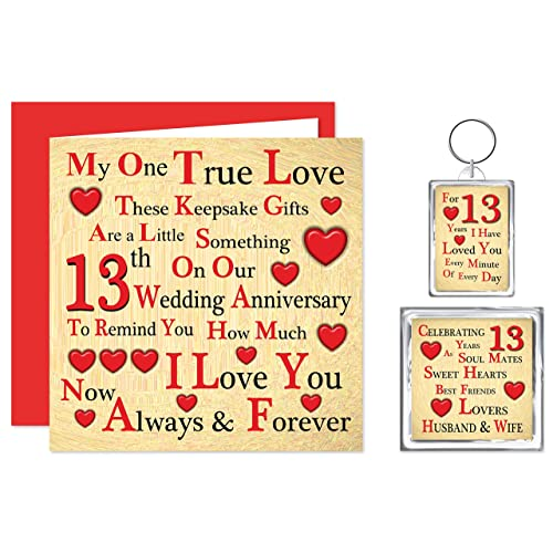 Gift For 13th Wedding Anniversary: 13th Anniversary Gifts: Amazon.co.uk