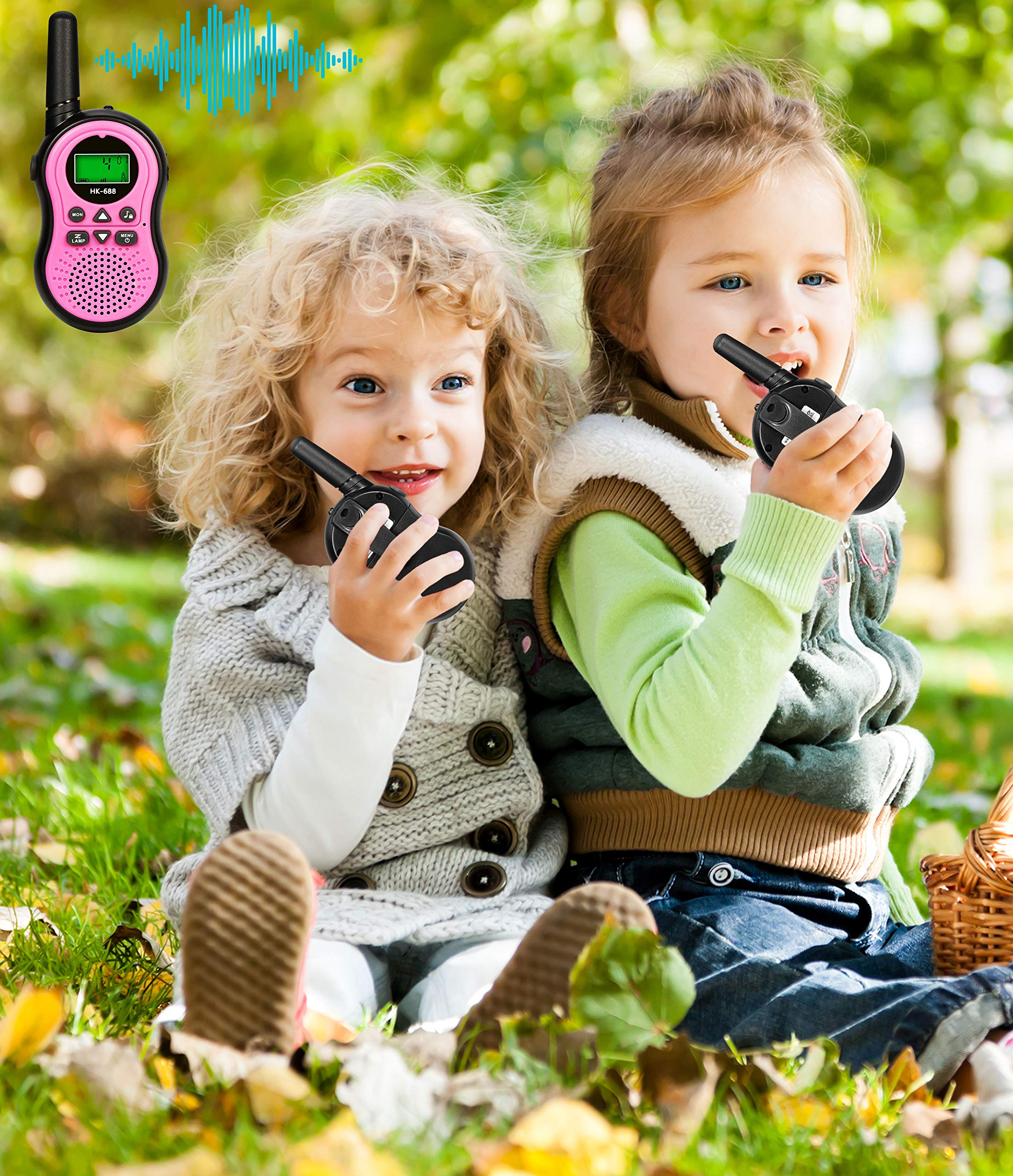 Toys for 3-12 Year Old Boys, BIBOYELF Walkie Talkies for Kids Toys for 3-12 Year Old Girls,5-9 Year Old Girl Birthday Gift,Outside Toys for Kids Outdoor Play,HK-688 1Pair(Pink) by BIBOYELF (Image #2)