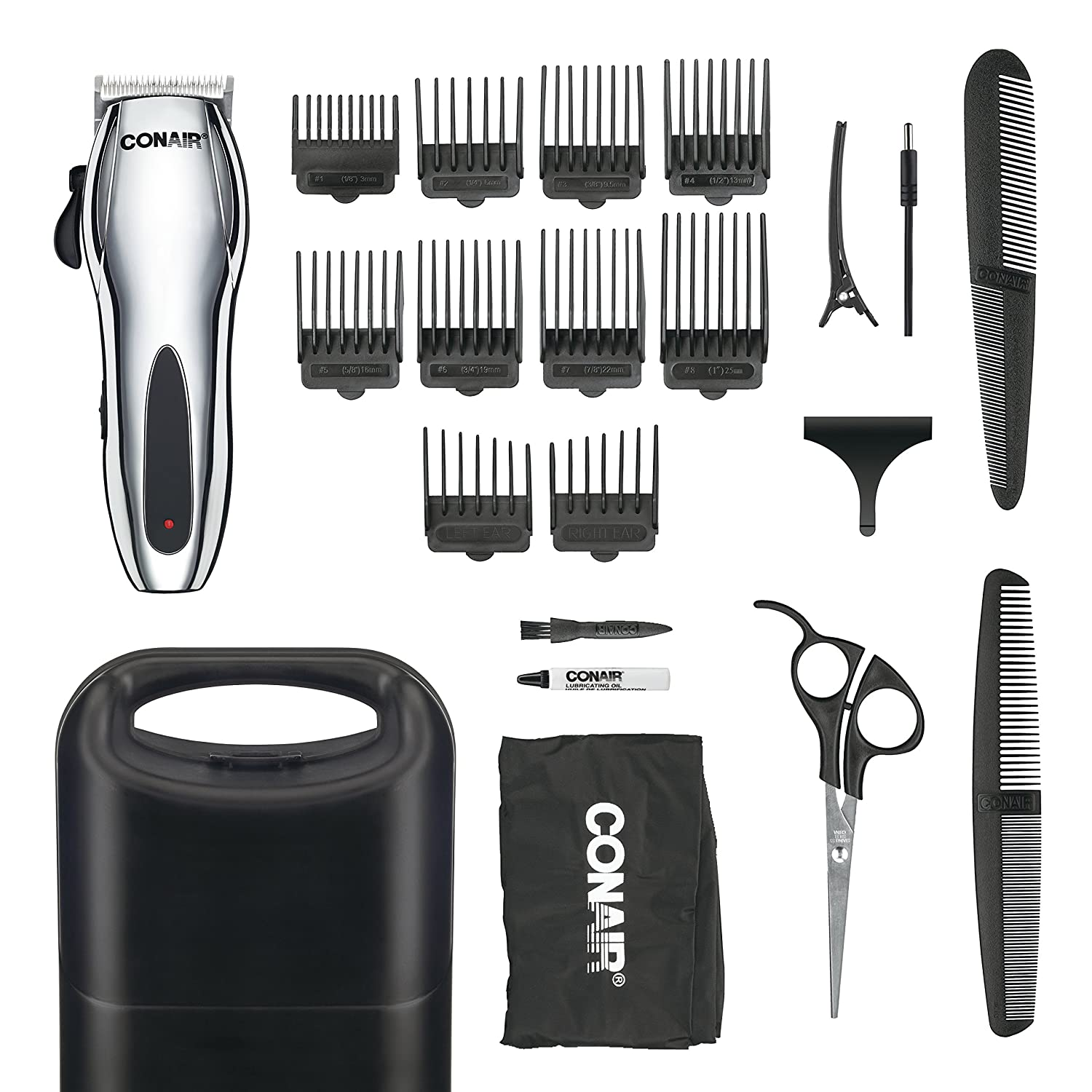 Conair Corded/Cordless Rechargeable 22-piece Home Haircut Kit