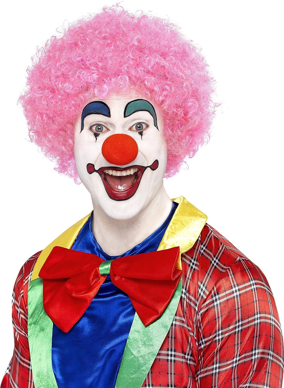 rosa SMIFFYS Smiffys 120g per Adulti 42086 Parrucca da clown pazzo Taglia Unica
