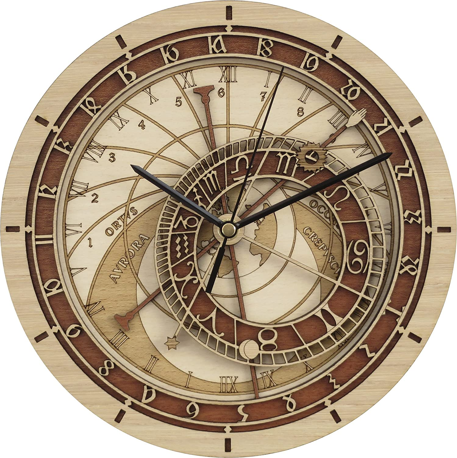 Wooden Prague Astronomical Clock