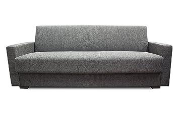Hodedah Import GRACIA GREY Sofa Converts To Bed