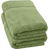 Utopia Towels - Luxurious Jumbo Bath Sheet (35 x 70 Inches, Sage Green) - 600 GSM 100% Ring Spun Cotton Highly Absorbent and