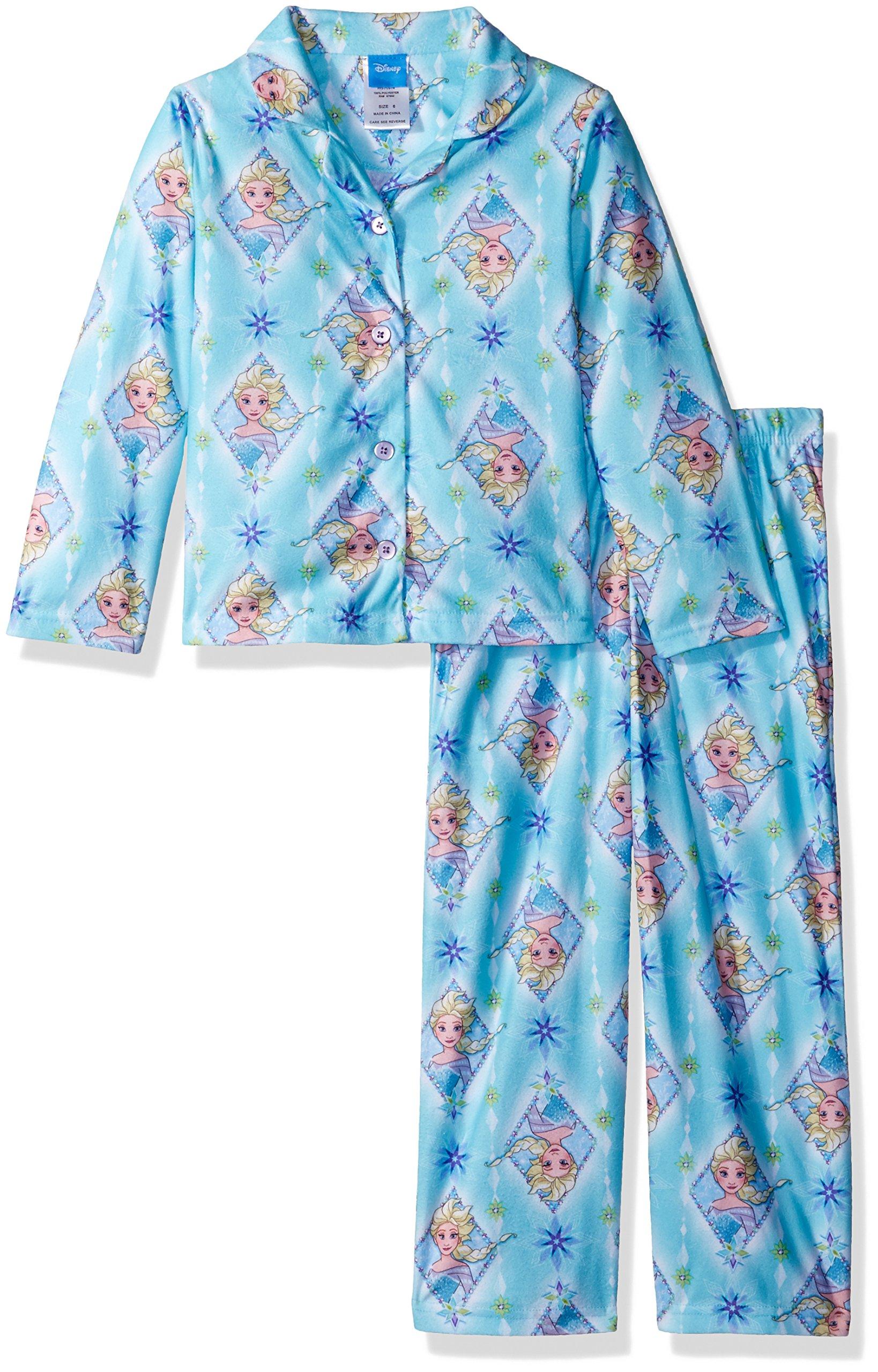 Disney Toddler Girls' Frozen 2-Piece Pajama Coat Set, Blue, 3T
