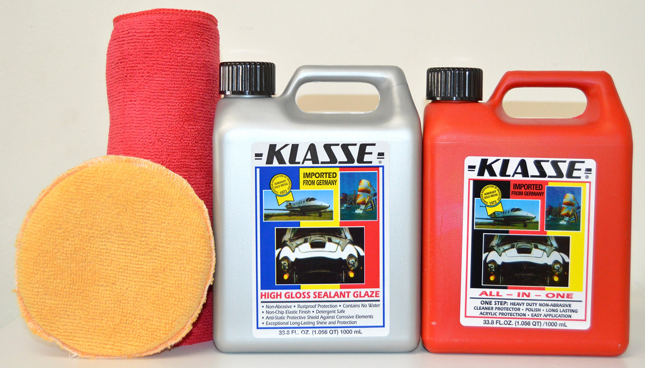 Klasse Combo Pack, 33.8oz All In One & Sealent w/ Free Microfiber & Applicator