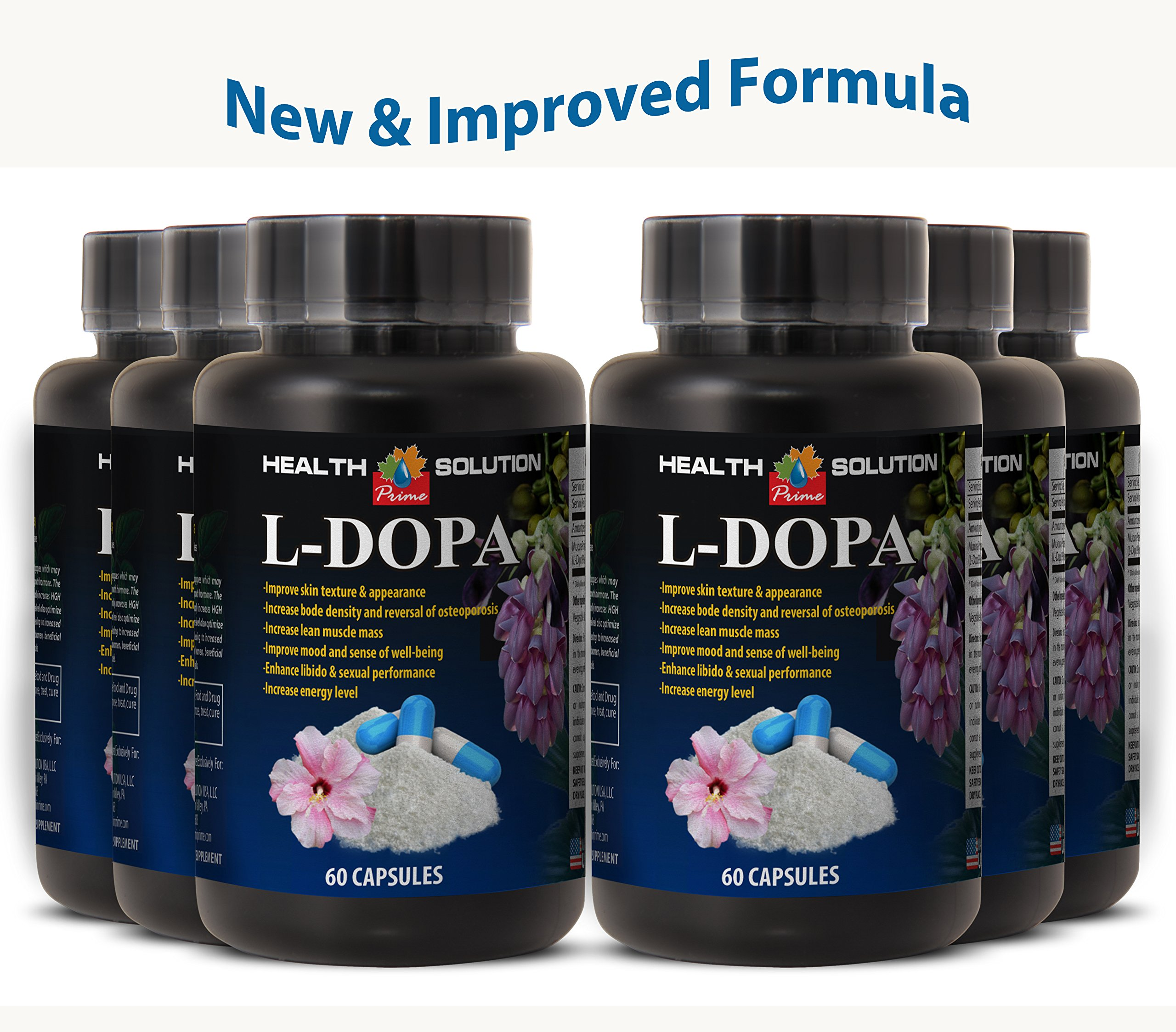 Organic macuna pruriens - L-DOPA 350 MG MUCUNA PRURIENS EXTRACT 99% - boost libido and energy (6 Bottles)