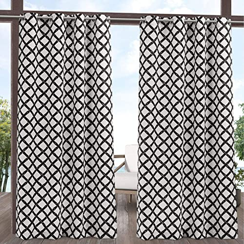 Exclusive Home Curtains Bamboo Trellis Indoor/Outdoor Light Filtering Grommet Top Curtain Panel Pair