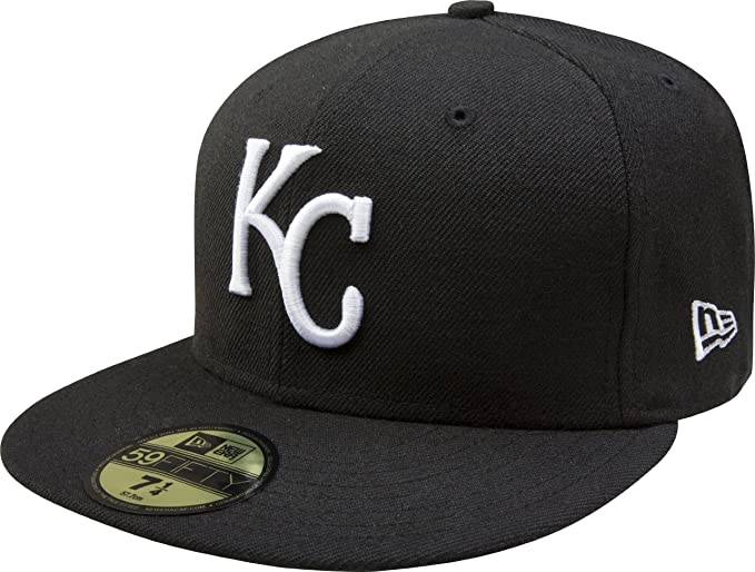 f474c204 MLB Kansas City Royals Black with White 59FIFTY Fitted Cap