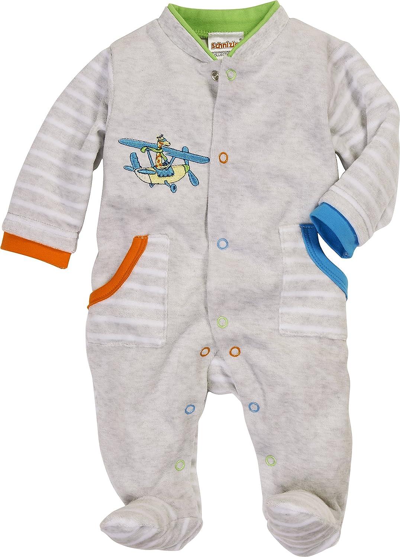 Schnizler Baby-Jungen Schlafoverall Interlock Maus Schlafstrampler