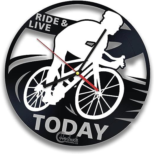 Para bicicleta Rider Reloj de pared de disco de vinilo por hecho a ...