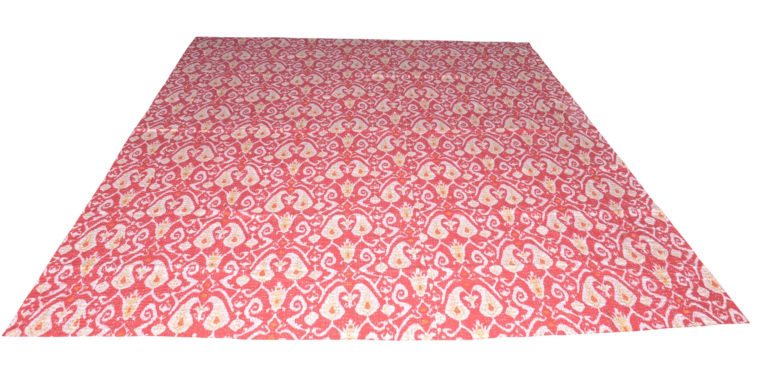 100% Cotton Quilt Floral Pattern Home Décor Kantha Multi Color Reversible Patchwork Bedspread, 90 X 108 Inches by Rajasthali (Image #4)