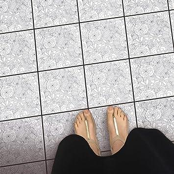 Fliesenspiegel Für Boden Fliesen Folie Sticker Aufkleber Für Fuß - Küchenboden alternative zu fliesen