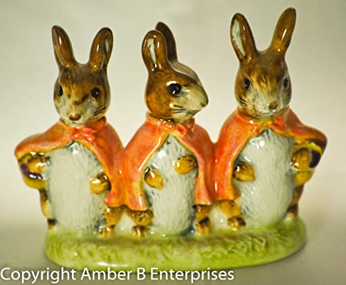 1973 -74 – F. Warne Co Ltd – Original Beatrix Potter s – Flopsy Mopsy Cottontail Figurine – 3x3x1 Inches – Beswick, England – Out of Production – Mint – Very Rare – Collectible
