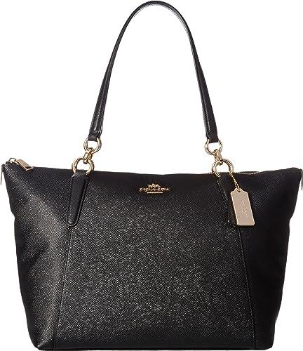 d787654010dd Amazon.com  COACH Women s Crossgrain Ava Tote Im Black One Size  Shoes