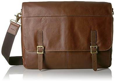 Amazon.com: Fossil Men's Defender Leather Messenger Bag, Brown: Shoes