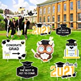 2021 Graduation Decorations Yard Sign for Party - 7 Pics of Graduation Yard Signs with Stakes as Outdoor Decor or Photo Props