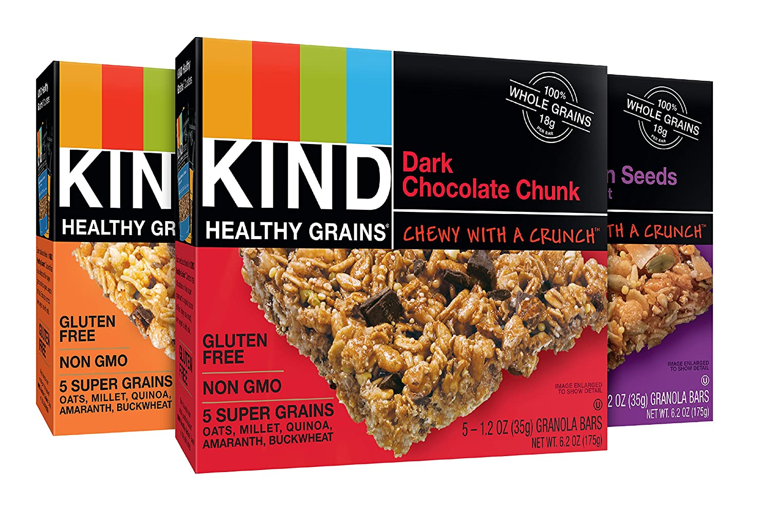 KIND Healthy Grains Granola Bars, Variety Pack, Gluten Free, 15 Count