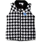 Nitro USA NCAA Womens Quilted Herringbone Print Vest with Embroidered Cardinal Logo