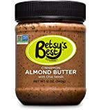 Gourmet Cinnamon Almond Butter w/Chia Seeds by Betsy's Best - FREE RECIPE E-BOOK - Award Winning - All Natural and GMO Free