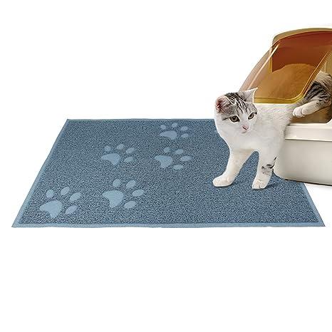 Todeco - Caja de Arena para Gato, Tapete Impermeable para Animales - Tamaño Plegado: