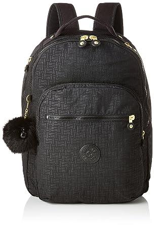 Kipling CLAS SEOUL Mochila escolar, 45 cm, 25 liters, Negro (Black Pylon Emb): Amazon.es: Equipaje