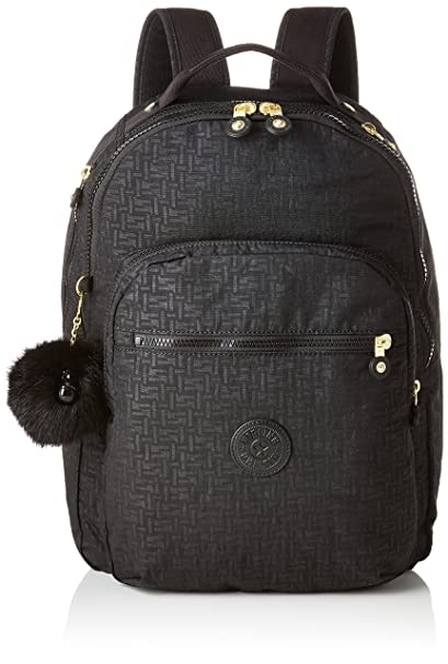ad57edc965 Kipling CLAS SEOUL School Backpack, 45 cm, 25 liters, Black (Black Pylon  Emb): Amazon.co.uk: Luggage