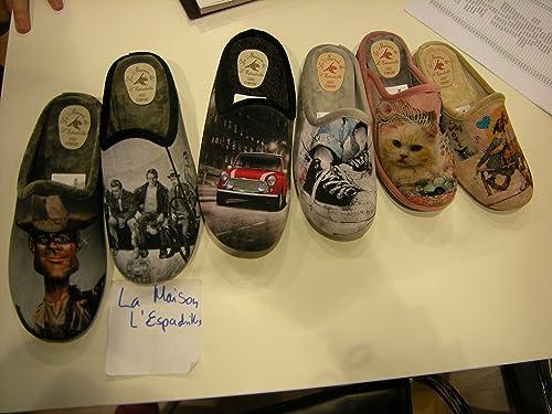 La Maison De L Espadrille 6726 Chaussons Pour Homme Multicolore Divers 43 Amazon Fr Chaussures Et Sacs