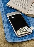 Cartera de teléfono Gecko - Soporte para teléfono - Tarjetero adhesivo para celular - Bolsa de teléfono - Bolsillo para teléfono de Lycra - Portador de tarjetas de crédito y efectivo - Negro/Blanco