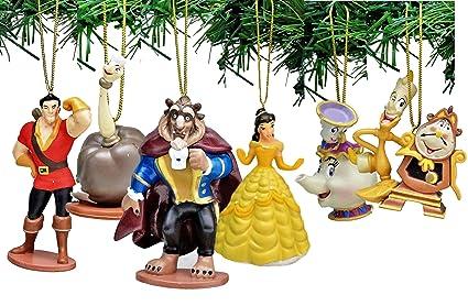 Amazoncom Disneys Beauty And The Beast Holiday Ornament Set Of 6