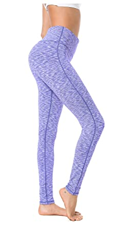 7dc753b653 QUEENIEKE Women Power Stretch Leggings Plus Size Medium Waist Yoga Pants  Hidden Pocket Running Tights Size S Color Black White Space Dye: Amazon.co. uk: ...