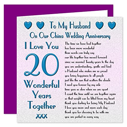 Anniversario Matrimonio 75 Anni.Mio Marito Xx Anniversario Di Matrimonio Sul Nostro Cina