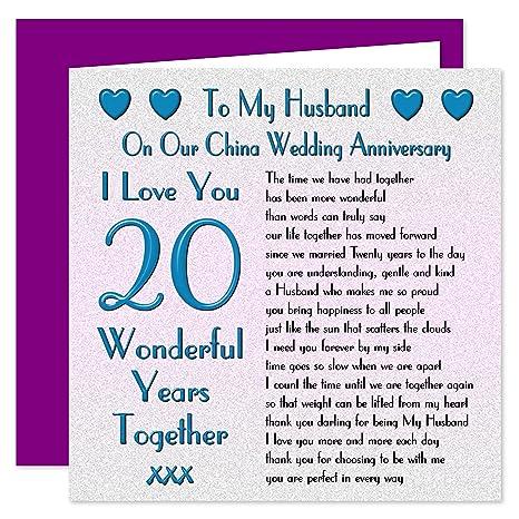 Biglietti Anniversario Matrimonio 20 Anni.Mio Marito Xx Anniversario Di Matrimonio Sul Nostro Cina