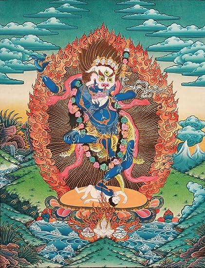Exotic India Simhavaktra: Lion Faced Dakini (Tibetan