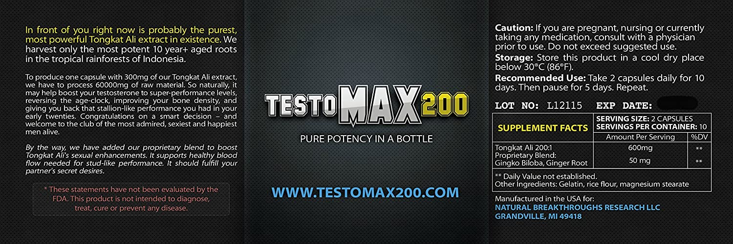 Testomax 200 – Testosterone Booster – Natural Testosterone Booster For Men