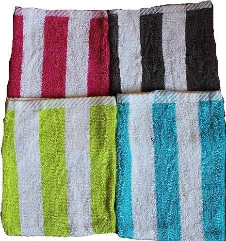 Desconocido de 10 Pg. Manopla de baño de Rizo Uni Walk, Aprox. 15 x 21 cm, manopla de baño, 100% algodón, algodón, 10 Stück Gestreift, 15x21: Amazon.es: Hogar