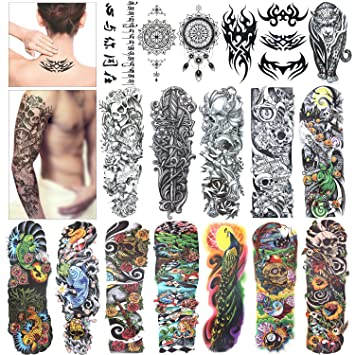 df43c55e04f8 Amazon.com   Full Arm Temporary Tattoo