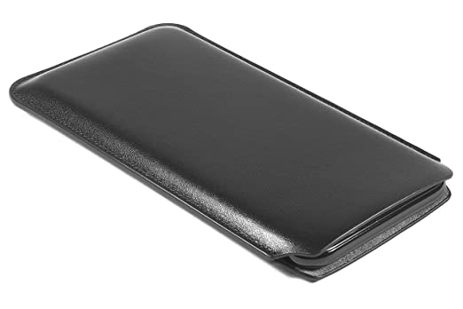 best sneakers bdf90 9a74a CushCase Leather Sleeve Pouch Case for iPhone X and iPhone XS - Ultra Slim  Design - Black