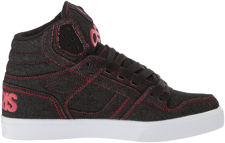 Osiris Women's Clone Skate Shoe B074896N1V 10.5 B(M) US Black/White/Red