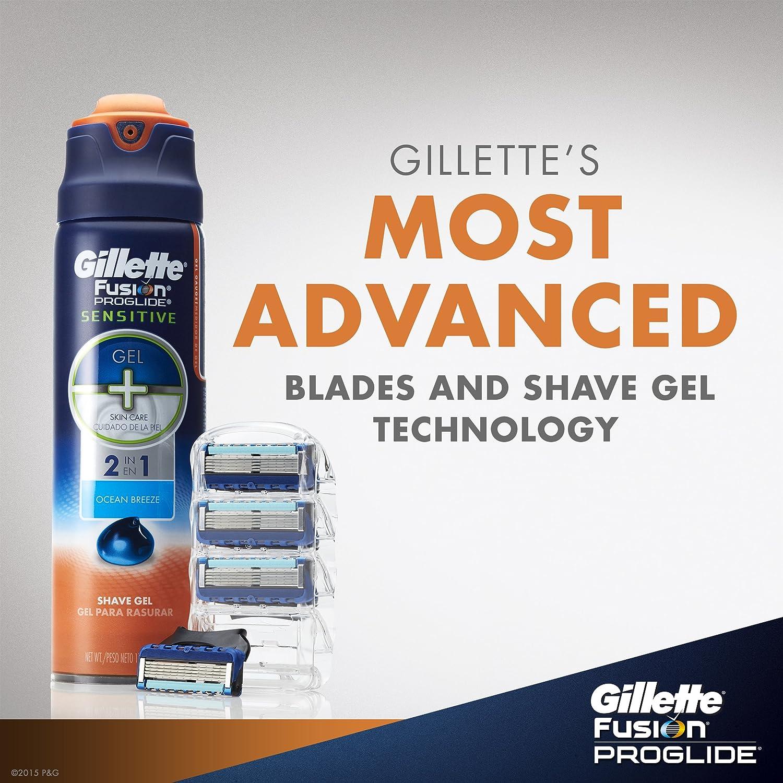 Gillette Fusion Proglide Manual Mens Razor Blade Refills 4 Count
